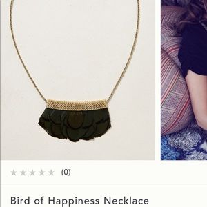 Anthropologie feather necklace